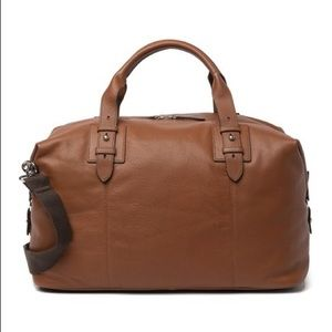 NWT COLE HAAN Tan Leather Duffle Weekend Bag $498